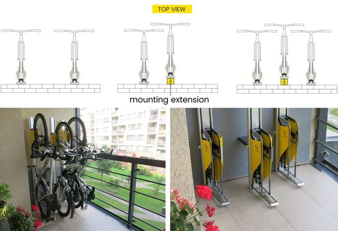 PARKIS – space saving bicycle lift
