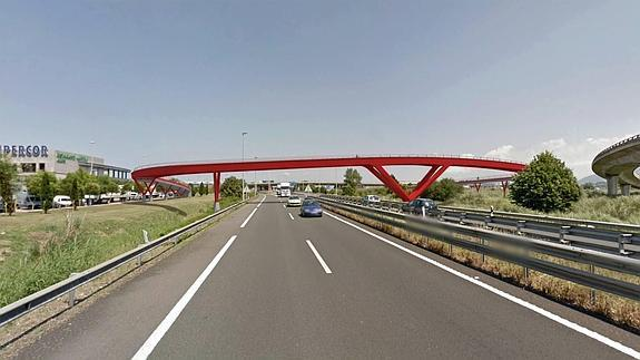 La pasarela de Raos permitirá unir por carril bici Santander y Ontaneda.