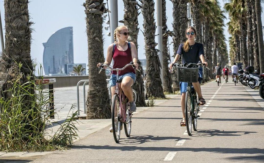 Barcelona triplica los desplazamientos en bici.